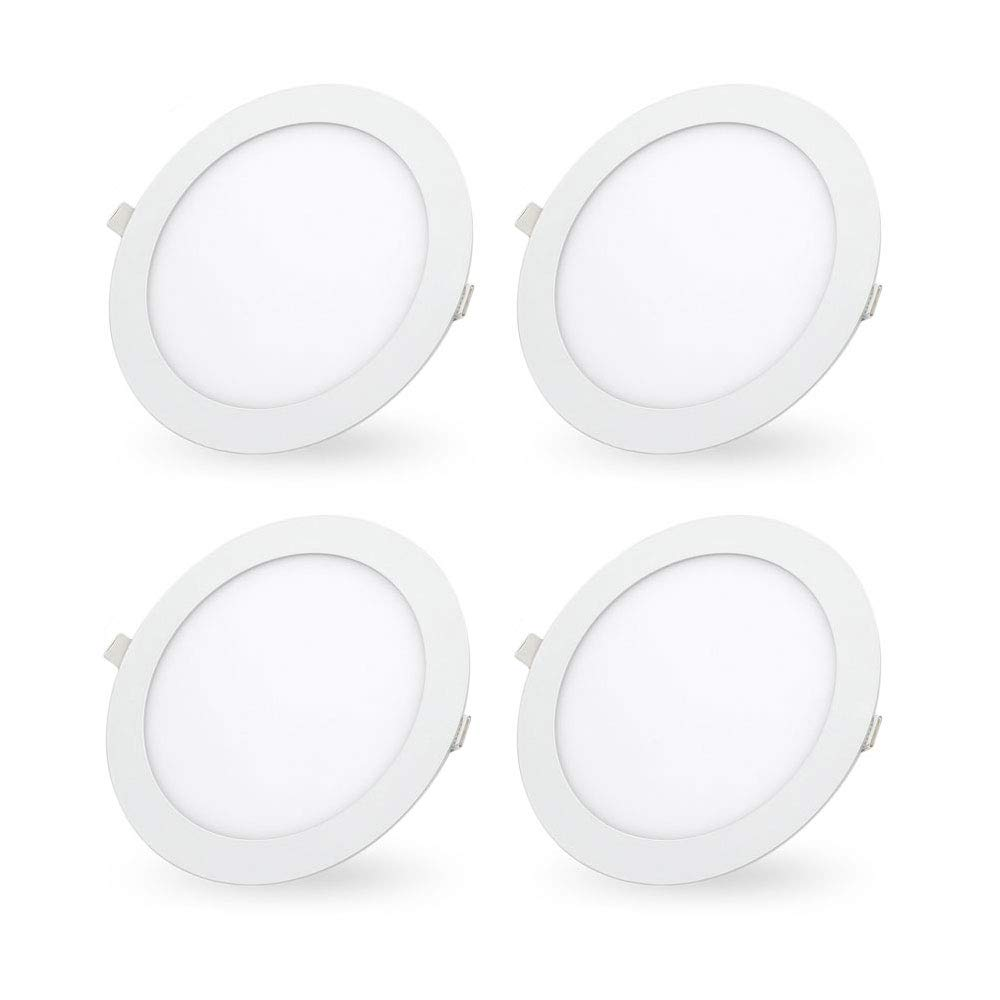 LED Recessed Lighting Retrofit, 7-inch 18 Watt 6000K Daylight White Ultra-Thin LED Ceiling Can Light Downlight Easy Installation-4 Pack