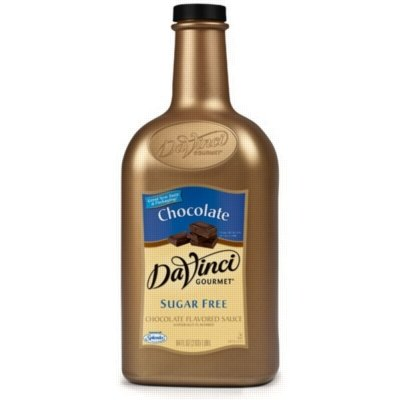 Da Vinci Gourmet Sugar Free Chocolate Sauce with Splenda, Half Gallon