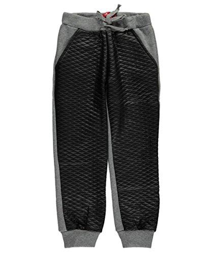 shampoo-big-girls-quilt-panel-joggers-black-gray-10-12
