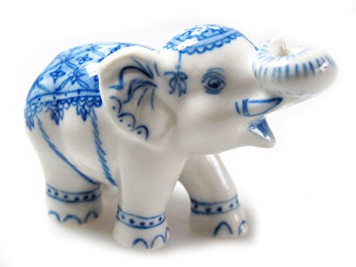 Animal Miniature Handmade White Bengal ELEPHANT Statuette Collectibles Gift