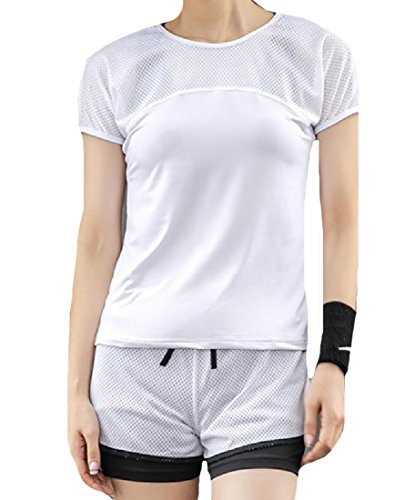 ANDYOU-Women Utility Short-Sleeve Outdoor Breathable 3 Piece Set hot sale