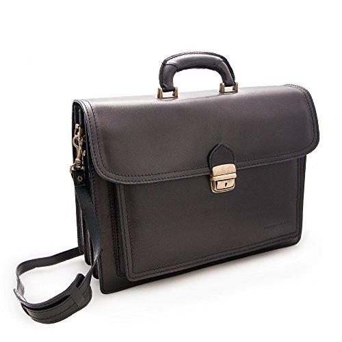 Zerimar Kuhleder aktentasche - brieftasche mehreren fächern Maßnahmen: 40x30x13 cms. 100% Natürlich. Qualität garantiert.
