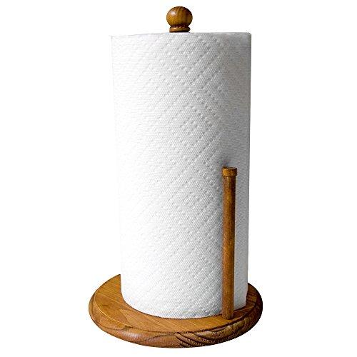 Paper Holder Towel Wooden (Home Basics Pine Paper Towel Holder)