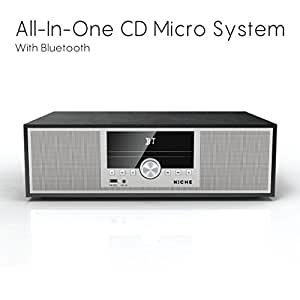 N:Che - CD All in One Bluetooth Micro System, FM Radio, Bluetooth V2.1, USB Input, AUX in, Wood Veneer Finish.