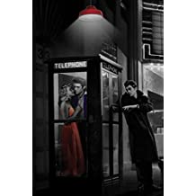 Midnight Matinee Marilyn Monroe James Dean and Elvis Presley by Chris Consani 36x24 Art Print Poster Wall Decor Hollywood Romantic Movie Theatre Phone Booth