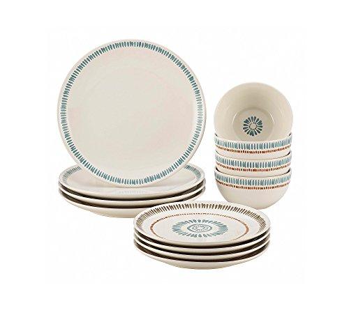 Multi Colored Dishes (Rachael Ray Cucina Sun Daisy 12-pc. Stoneware Dinnerware)