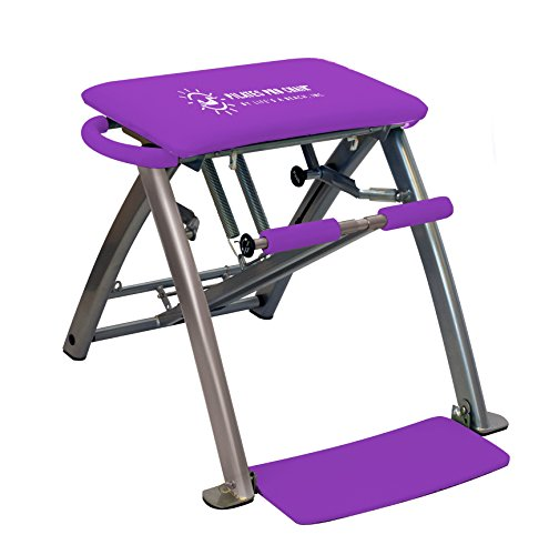 Life's A Beach Purple Pilates Pro Exercise Workout Fitness Chair with 4 DVDs