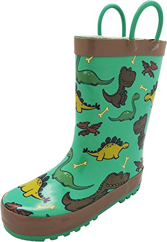 NORTY - Toddler Boys Dinosaurs Waterproof Rainboot, Green