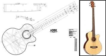 Plan de un bajo acústico - impresión a escala completa