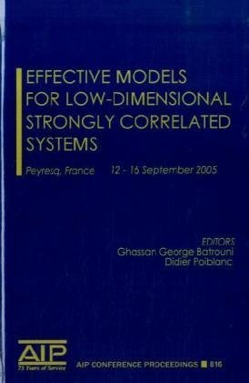 Effective Models for Low-Dimensional Strongly Correlated Systems (AIP Conference Proceedings / Materials Physics and Applications)
