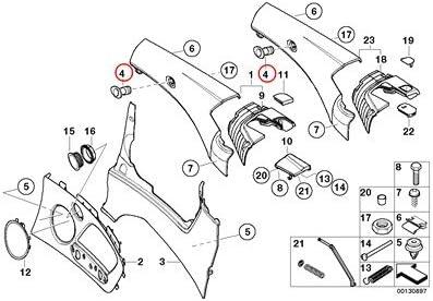 BMW Genuine Lateral Trim Panel Rear Right Mount F Wind Deflector Light Beige 323Ci 325Ci 330Ci