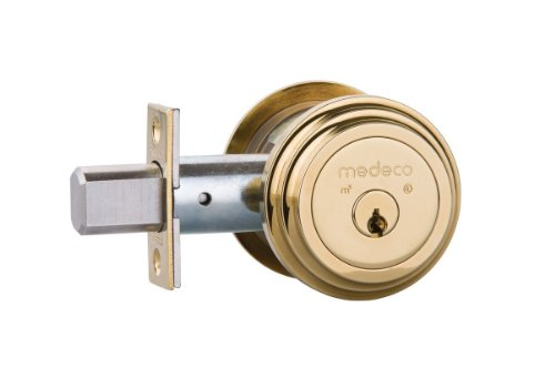 Security Medeco Locks - Medeco Maxum Residential Deadbolt - Single Cylinder - Bright Brass by Medeco Security Locks