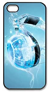 LZHCASE Personalized Protective Case for iPhone 5 - Headphones in Water