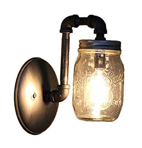 Industrial Light Fixtures Amazon: Amazon.com: Industrial Rustic Mason Jar Wall Sconce: Handmade