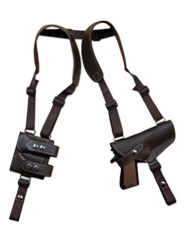 Barsony New Horizontal Brown Leather Shoulder Holster for sale  Delivered anywhere in USA