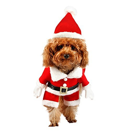 pawz road happy christmas gift pet present dog clothes santas costume with hat xs - Christmas Presents For Dogs