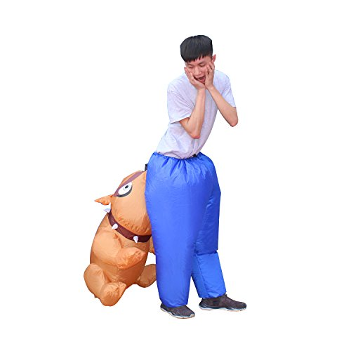 BestParty Inflatable Fancy Adult Carry On Animal Halloween Cosplay Dress Costume (Bulldog)]()