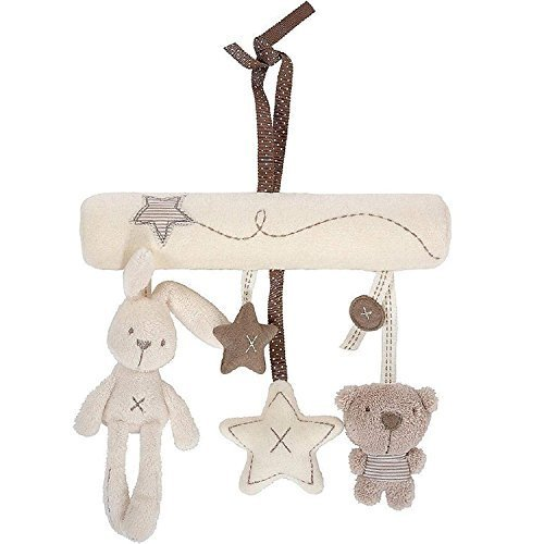 Maybest Hanging Toy Baby Rattle Toy Soft Plush Activity Crib Stroller Rabbit Musical Mobile ()