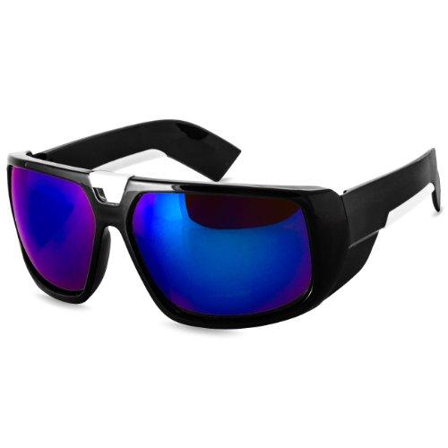 bleu monture plusieurs UNISEXE stylées soleil miroir coloris CASPAR noir de Lunettes SG026 renforcée 0qS7X7