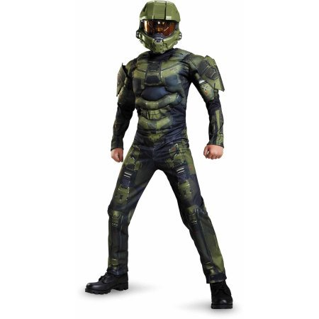 Halo Master Chief Classic Muscle Child Dress Up / Halloween Costume (S 4-6) ()