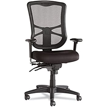 Alera EL41ME10B Alera Elusion Series Mesh High-Back Multifunction Chair, Black