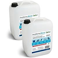 Eau distillée BioFair®; paquet économique de 2bidons de 5litres