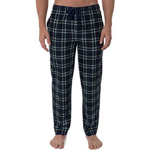 Chaps Men's Matte Fleece Pajama Pant, Navy Black Watch, - Black Pajama Watch