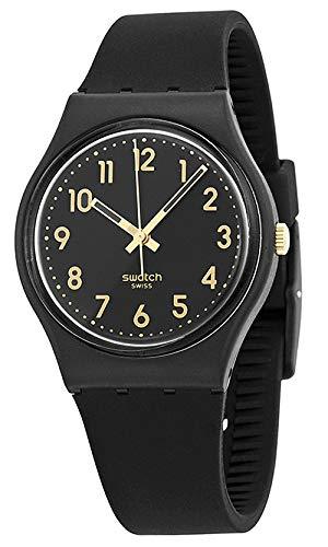 Swatch Classic Quartz Silicone Strap, Black, 16 Casual Watch (Model: GB274)