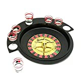 Roulette Wheel Drinking Game with 6 Shot Glasses for Bar KTV Entertaining Party Supplies Ksruee