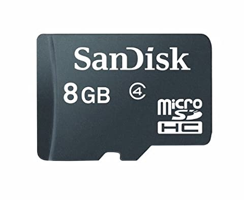 SanDisk 8GB Class 4 Micro SDHC Memory Card, Frustration-Free Packaging- SDSDQ-008G-AFFP (Microsd Card 1gb)