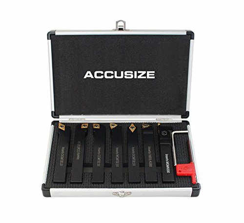 Accusize - 7 Pieces/Set, 5/8'' Shank Size, Indexable Carbide Turning Tools, Lathe tool #2387-2005