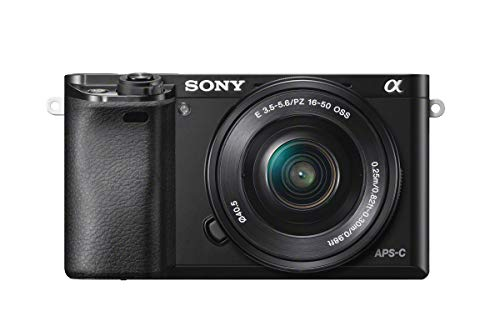 Sony Alpha a6000 Mirrorless Digital Camera 24.3MP SLR Camera with 3.0-Inch LCD (Black) w/16-50mm Power Zoom Lens (Best Mirrorless Camera Brand)