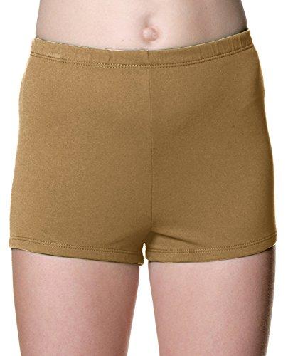 Danskin Girls' Boy Cut Shorts (X Large (14-16, Light Toast)