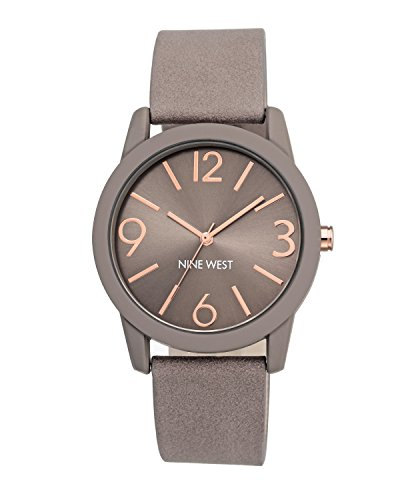 Nine West Women's NW/1930TPRG Taupe Strap Watch