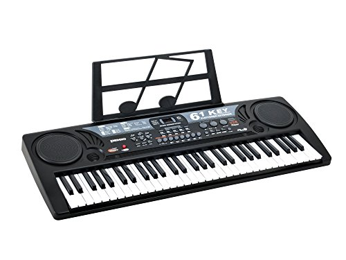 Plixio 61 Key Mid-Size Electric Piano Keyboard with USB & MP3 Input- Portable Electronic Music Keyboard