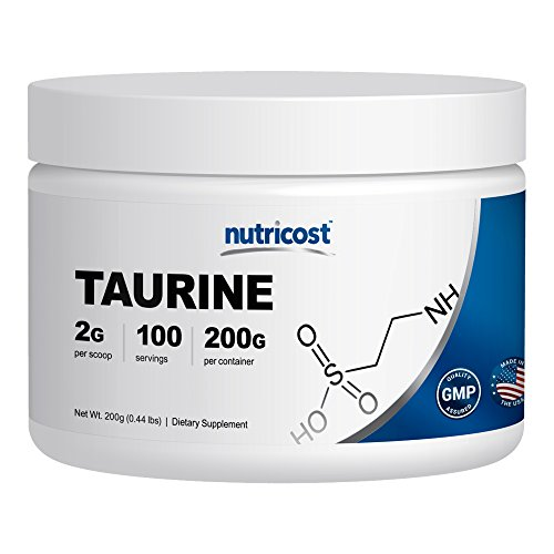 Nutricost Taurine Powder 200 Grams - 100 Servings, 2000mg Per Serving