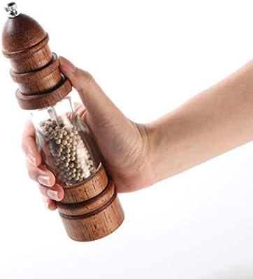LTLWSH Juego De Molinillo de Sal y Pimienta, Molinillo de Pimienta Manual de Salero y Pimentero con Grano Ajustable, Molinillos de Especias: Amazon.es: Hogar