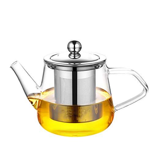 Glass Tea Set Elegant Cups Teapot High Temperature Tea Set Brewer Tea Household Kettle Tea Single Pot Tea Pots (Size : B)