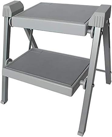 LADDER Taburete de cocina Taburete de 2 peldaños Escalera plegable para el hogar Escalera colgante portátil multifunción para interiores Taburete para caballos: Amazon.es: Bricolaje y herramientas