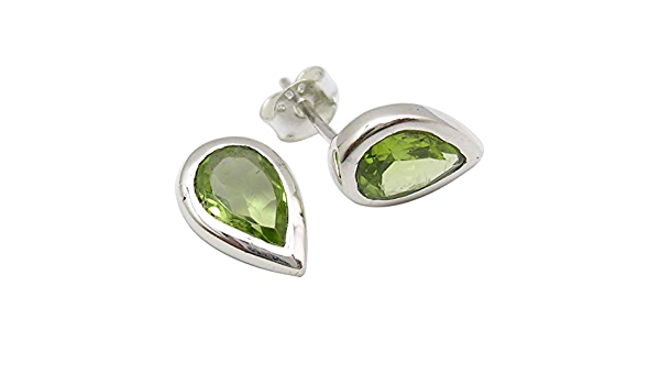 """Details about  /925 Solid Silver PERIDOT Cute LONG Earrings 1.9/"""" Women/'s Jewellery"""