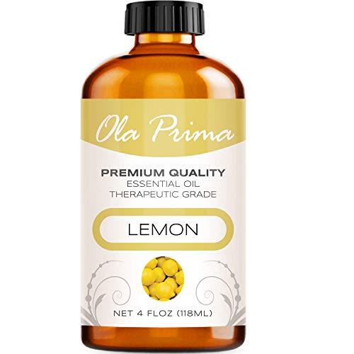 4oz - Premium Quality Lemon Essential Oil (4 Ounce Bottle with Dropper) Therapeutic Grade Lemon Oil