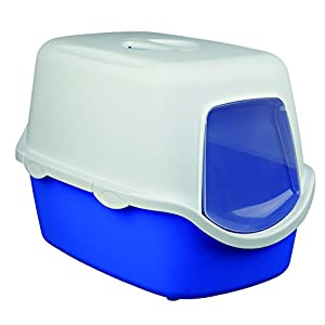 Trixie Vico Cat Litter Tray with Dome (Blue/White)