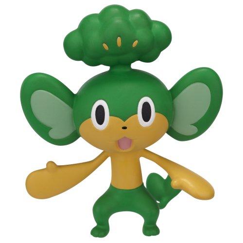 Pokemon Attack Figure B&W Series #2 Pansage - Grass-type base
