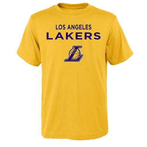 - NBA Los Angeles Lakers Boys Lebron James Name and Number Short Sleeve Tee, Youth Large(14-16), Bright Yellow