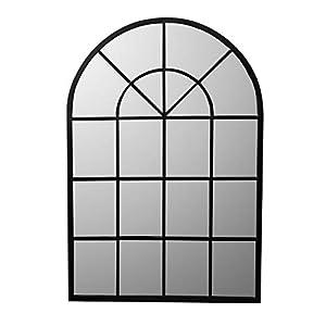 Delamaison Miroir Grande demeure en métal Arrondi 92x135cm Alix
