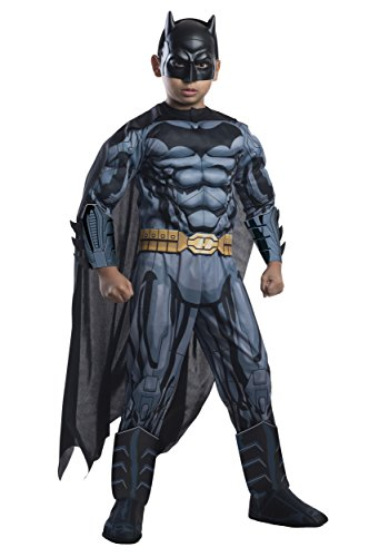 Rubie's Costume DC Superheroes Batman Child Deluxe Costume, (Super Hero Costume Ideas)