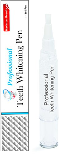 Professional Teeth Whitening Pen Strongest Tooth Whitening Gel Double Size 40 Plus Uses 4 Milliliters