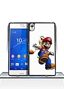 Sony Xperia Z3 Funda Case, Super Mario Sunshine Game Funny Artistic Fantastic Simple Cool Pattern Anti Slip Shell Protective Funda Case [Just fit for Z3]