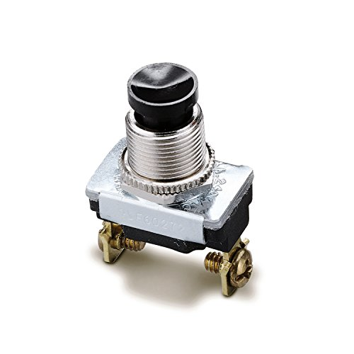 Gardner Bender GSW-22  Electrical Push Button Switch, SPST, OFF-Mom ON,  6 A/120V AC,  Screw ()