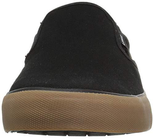 Lugz Men's Clipper Sneaker, Black/Gum, 7.5 D US
